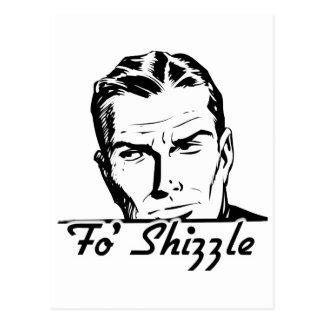 Fo' Shizzle Retro Man Postcard