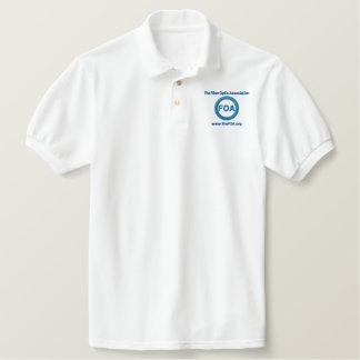 FOA logo embroidered polo shirt