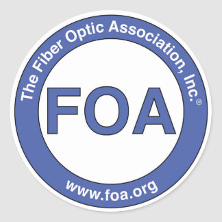 FOA logo small stickers