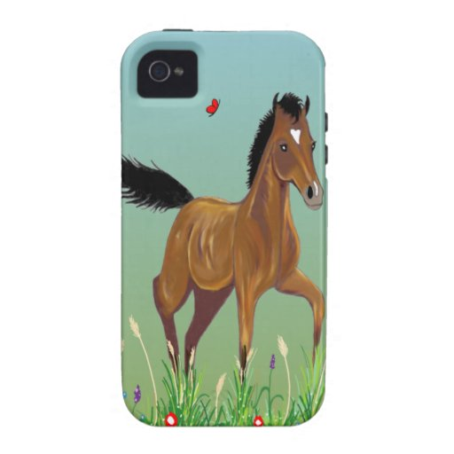 Foal and Butterfies iPhone 4 Case-Mate Case
