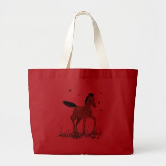 Foal and butterflies Tote bag