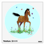 Foal and Butterflies Wall decal