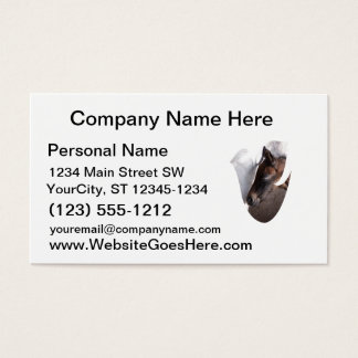 foal and mother dove shape business card