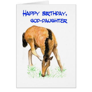'Foal' Birthday Card for Goddaughter