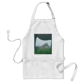 Foal Framed by its Mother Aprons