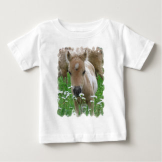 Foal Smelling Daisies Baby T-Shirt