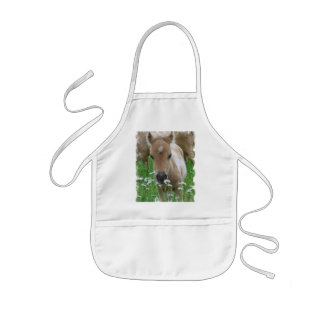 Foal Smelling Daisies Children's Smock Kids' Apron