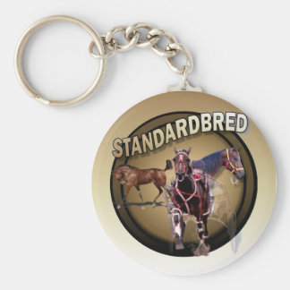 Foal to Racing Basic Round Button Keychain