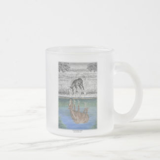 Foal Water Reflection of Horse Frosted Glass Coffee Mug