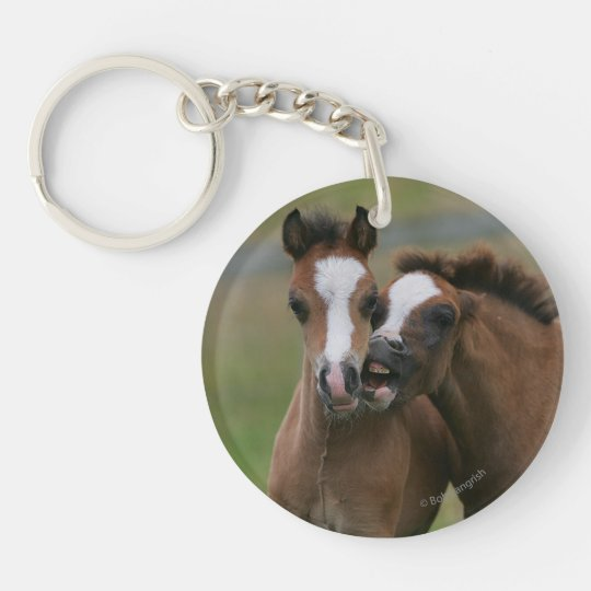 Foals Playing Keychain