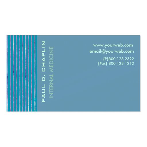 Foam Blue Cutting Edge Double-Sided Standard Business Cards (Pack Of 100)