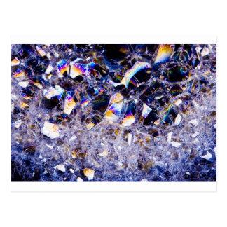foam bubbles postcard