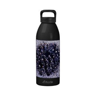 foam bubbles reusable water bottle