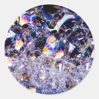 foam bubbles round sticker