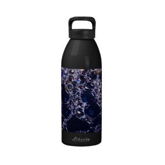 foam bubbles water bottle