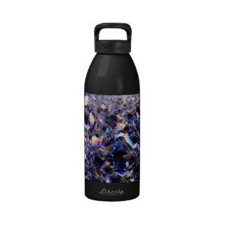 foam bubbles water bottles