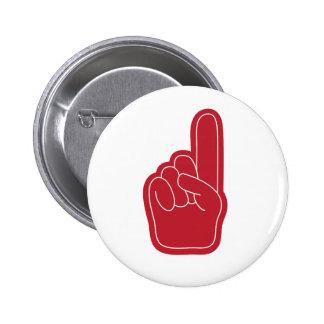 Foam Finger Pinback Button