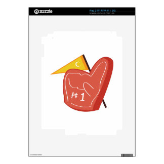Foam Finger Decal For iPad 2