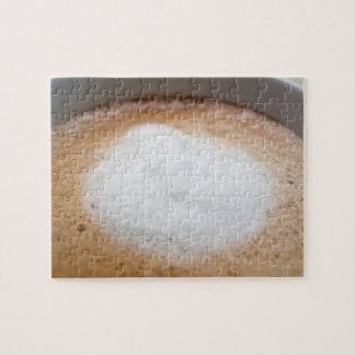 Foam on cappuccino, close-up jigsaw puzzle