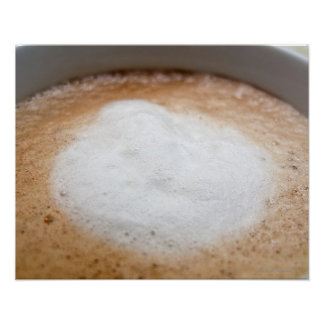 Foam on cappuccino, close-up poster