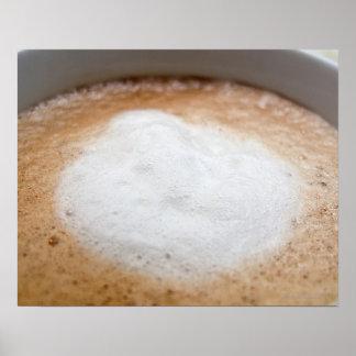 Foam on cappuccino, close-up print
