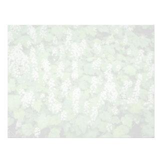 Foamflower (Tiarella Cordifolia) flowers Letterhead