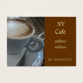 foaming capuccino business card