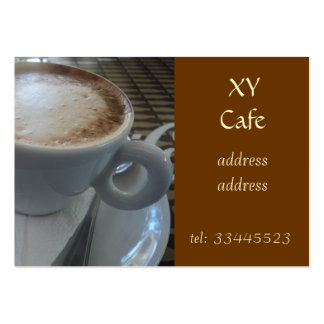 foaming capuccino large business card