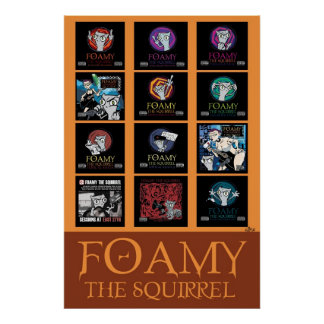 Foamy Album Covers Poster