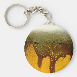 Foamy Beer Basic Round Button Keychain