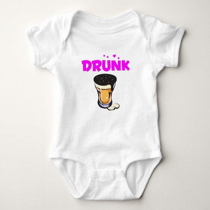 Foamy Beer Drunk Glass Baby Bodysuit