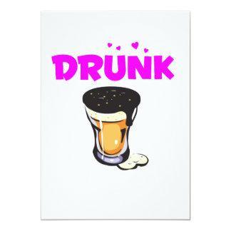 Foamy Beer Drunk Glass Card