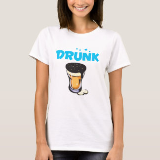 Foamy Beer Drunk Glass T-Shirt