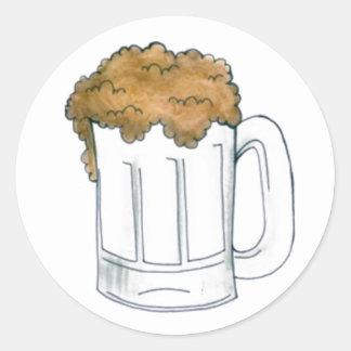Foamy Beer Mug Ale Bar Beers Drinking Stickers