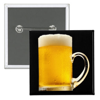 Foamy Beer Mug Pinback Button
