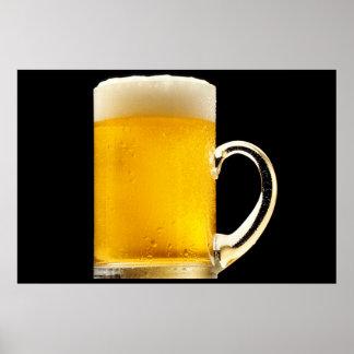 Foamy Beer Mug Poster