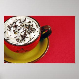 Foamy latte coffee lover poster