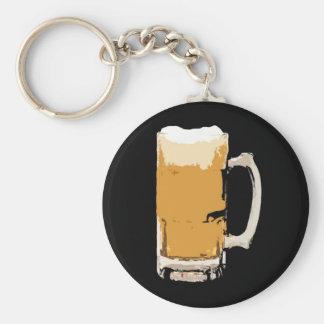 Foamy Mug Of Beer Pop Art Keychain