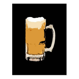 Foamy Mug Of Beer Pop Art Postcard