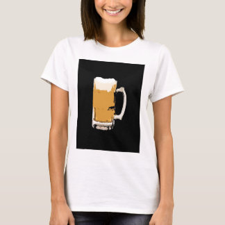Foamy Mug Of Beer Pop Art T-Shirt