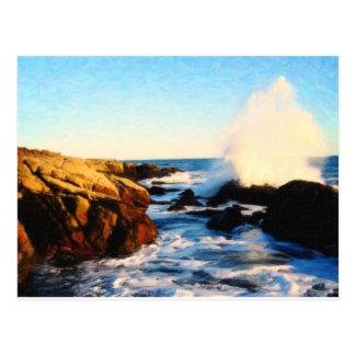foamy seaside 2 postcard