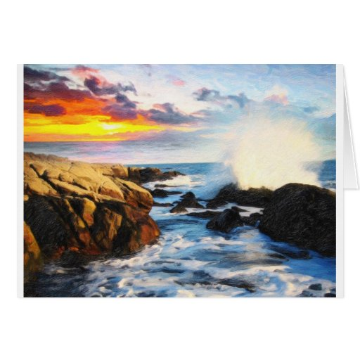 foamy seaside cards