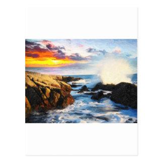 foamy seaside postcard