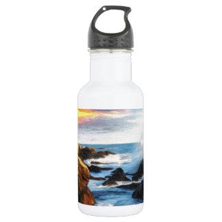 foamy seaside stainless steel water bottle