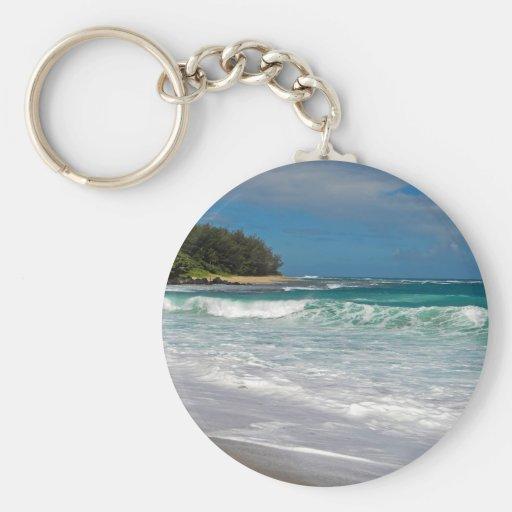 Foamy Surf Basic Round Button Keychain