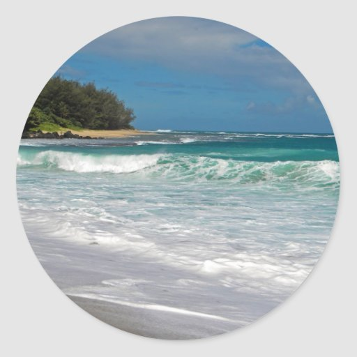 Foamy Surf Classic Round Sticker