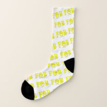 "FOB "" All-Over-Print Socks, Large US Men 8-13 Socks"
