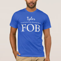FOB Father of the Bride Custom Name Wedding V15 T-Shirt