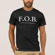 FOB - Father of the Bride Wedding TShirt - Black