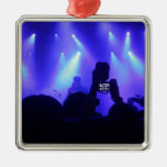 Focal Point Square Metal Christmas Ornament